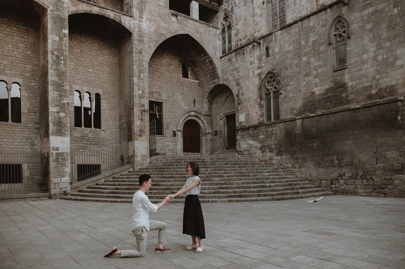 "<div style=""padding: 10px 0px 0px 0px; font-family: arapey;  font-size: 18px; letter-spacing: 2px; line-height: 1.8em; color:#6b6764"">Surprise proposal <br> Gothic, Barcelona</div>"