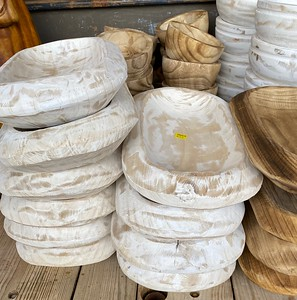Assorted dough bowls. This will vary