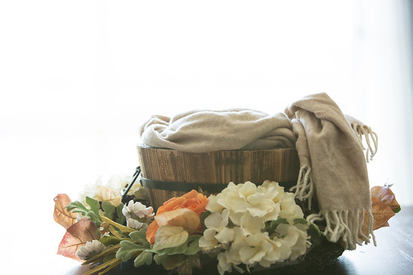 Cream Fall Floral wreath (with apple basket)