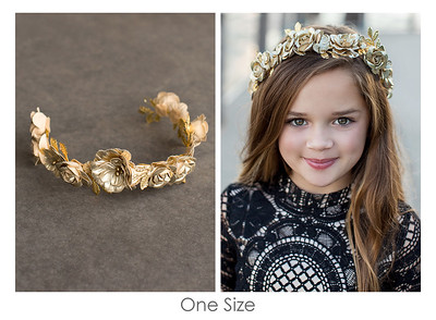 Shea Flower Crown in Gold
