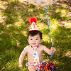 Royal color polka dot cake smash outfit