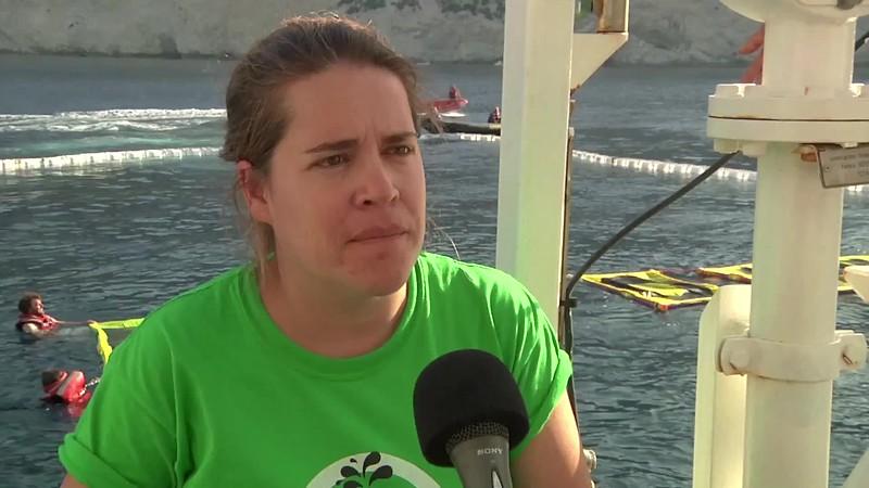 Declaraciones de Pilar Marcos, responsable de la campaña contra las prospecciones de Greenpeace