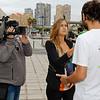 La activista de Greenpeace Matilde Brunetti, recibe el alta médica del Hospital Doctor Negrín