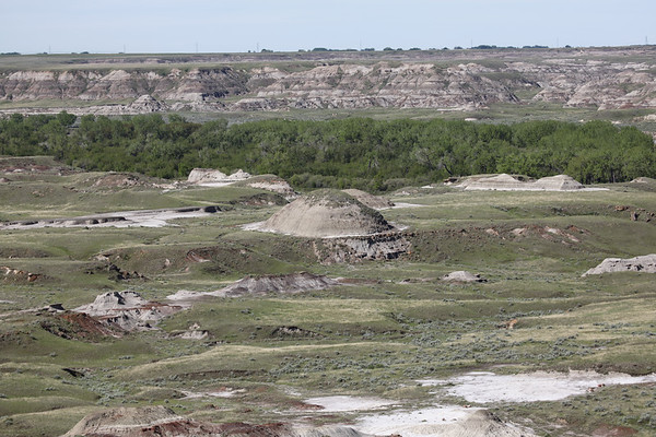River valley and badlands