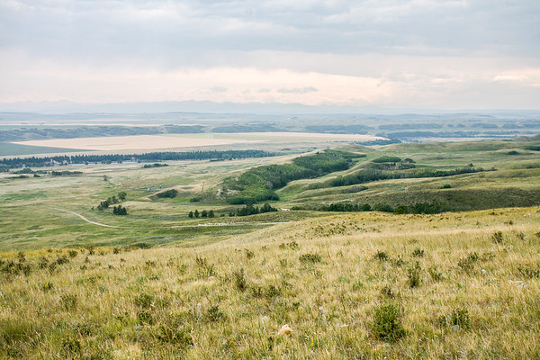 River valley grassy slopes