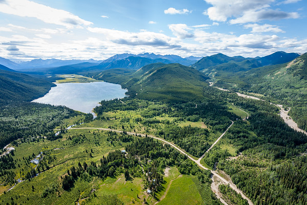 Arial view Rock Lake