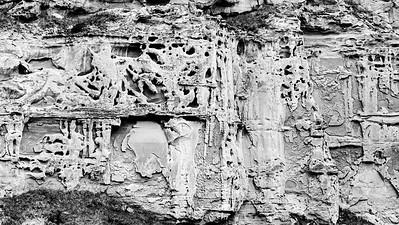 Erosion on Sandstone Cliff Face