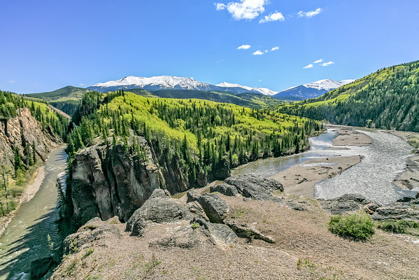 Sulphur River canyon/Smoky River valley