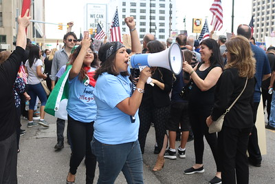 Some 500 rallied outside federal court in Detroit on Wednesday.