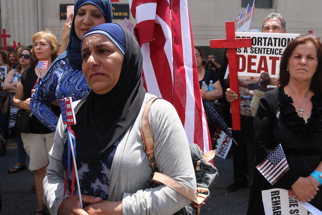 . Protesters say they fear detainees will be killed if deported to Iraq.