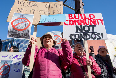 Koda Condos Groundbreaking Protest, Hirabayashi Place Residents