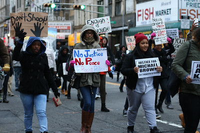 Rutgers-Newark/NJIT Organized #ShutItDown Protest in Downtown Newark