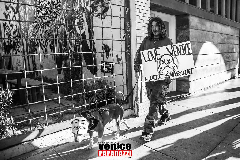 2.28.17 Snapchat Protest in Venice, California.  © www.VenicePaparazzi.com