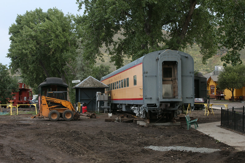 Remember where this car sat?  No?  Try 90 degrees to the left and up the small hill.  <br /> <br /> Not sure how they got the car moved like that?  Check out the Colorado Railroad Museum Website and Facebook to see that feat.