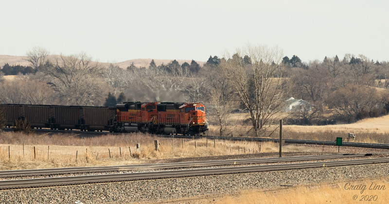 BNSF 9728 SD-70MAC Super Elevation