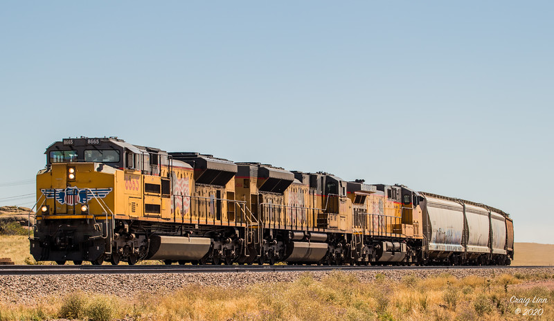 UP 8665 SD70ACe WB at Tie Siding