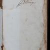 Inscription, 18h century