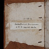 Donor label, 17th century