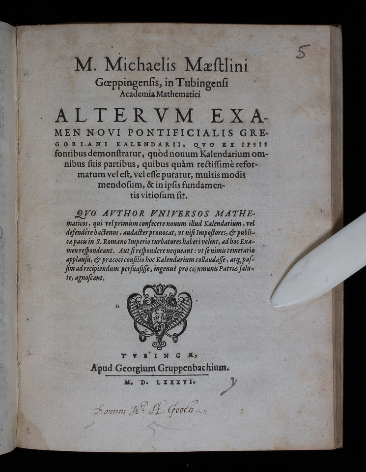 Donor inscription, 16th century