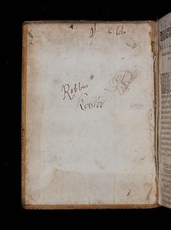 Inscription 'Robbin' 'Robin', 17th century