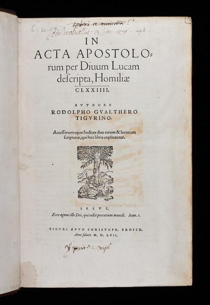 Inscription of John Walsall, 16th century