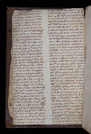Manuscript waste, 14th century