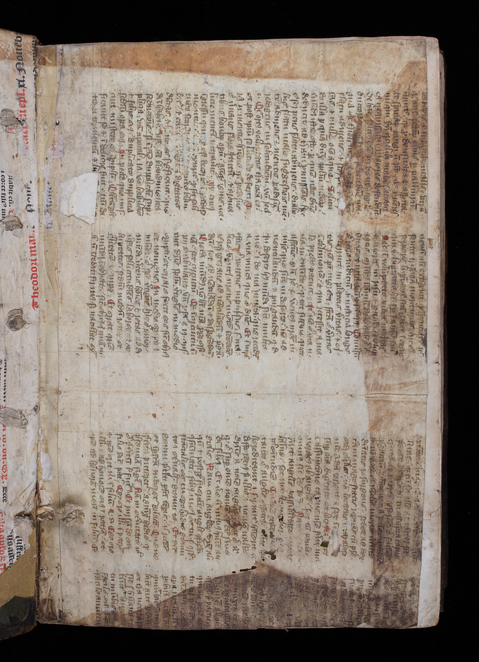 Manuscript waste, 16th century