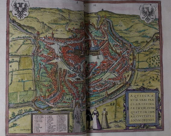 Map of Aquisgranum (Aachen), 16th century