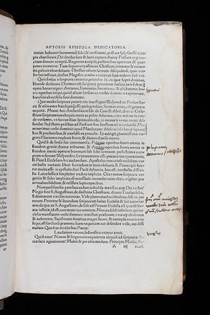 Marginal notes, 16th century