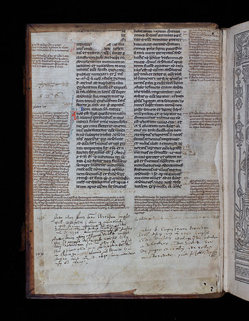Manuscript waste and inscriptions, 14th century