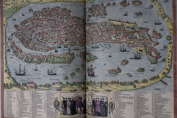 Map of Venetia (Venice), 16th century