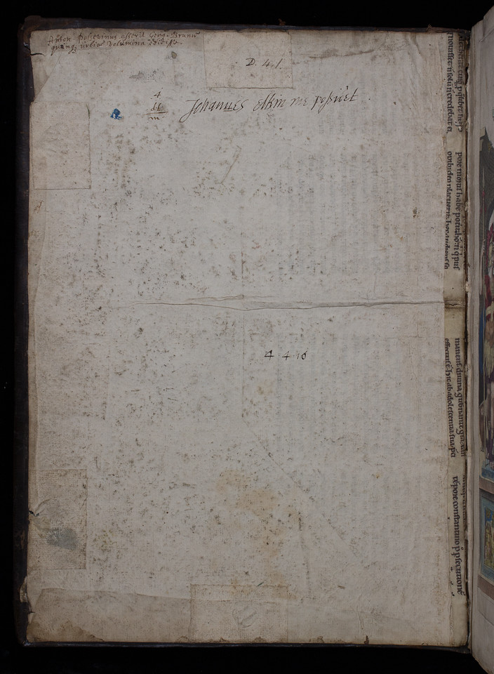 Ownership inscription of John Elkin, 17th century