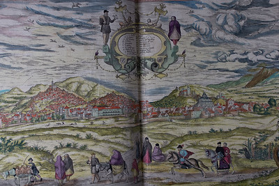 Engraving by Franz Hogenberg, hand-coloured. Author: Georg Braun  Title: Civitates orbis terrarvm  (Antwerp, 1575) Shelfmark: D.4.1   (catalogue record)