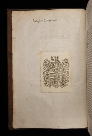 Inscription of Richard Gouldinge, 17th century