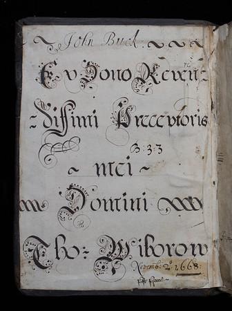 Donor inscription, 17th century