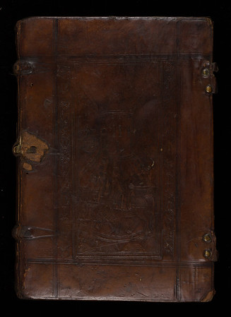 Blind-panelled calf binding, 16th century