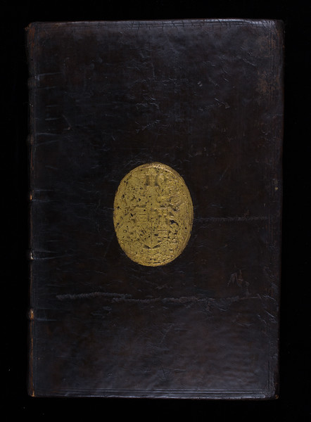 Gilt-stamp coat of arms of William Cecil, 16th century