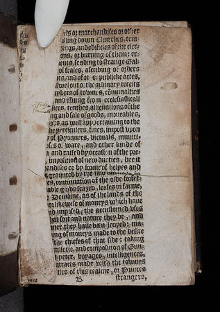 Inscription and printed waste, 16th century