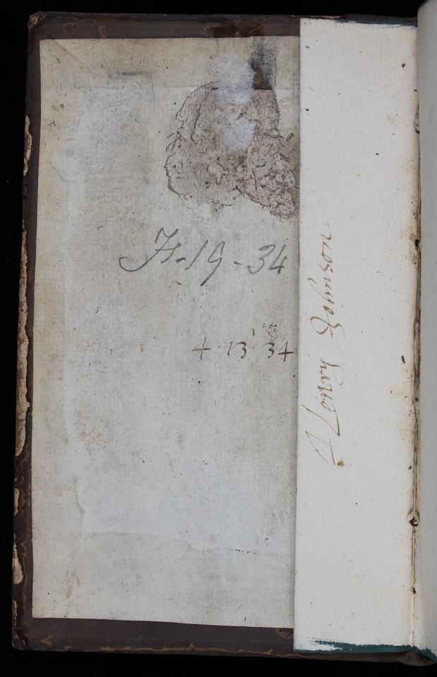 Inscription of Henry Johnson, 17th century