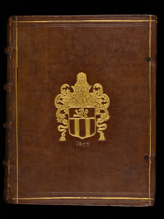 Armorial calf binding, 17th century