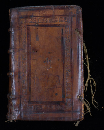 Blind-stamped binding, 16th century
