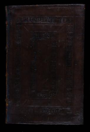 Blind-stamped sheepskin binding, 16th century