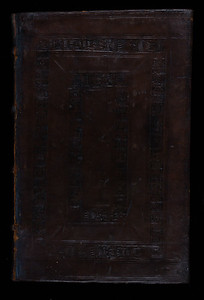 Blind-stamped sheepskin binding, 16th century