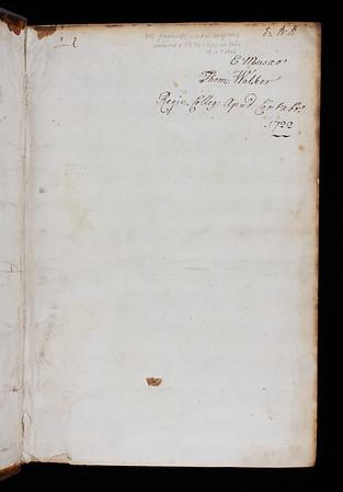 Inscription, 18th century