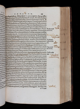 Annotations and drawings by Thomas Smith, 16th century
