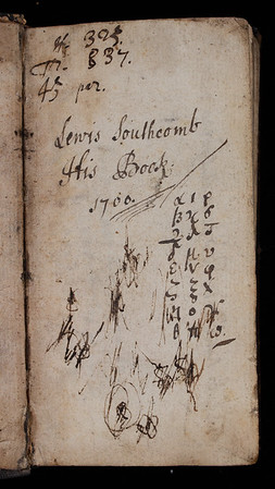 Ownership inscription, 18th century