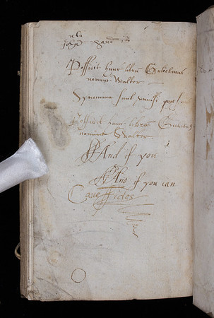 Ownership inscription of William Walter, 17th century
