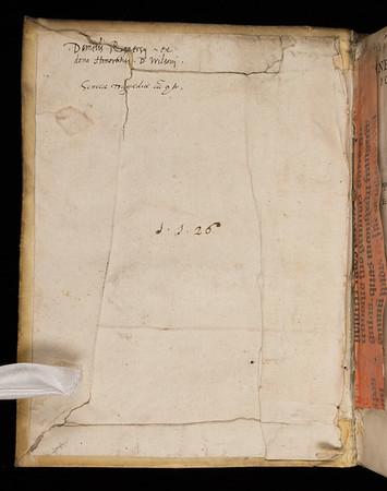Inscription of Daniel Rogers, 16th century