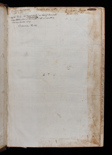 Inscription of Richard Bryan and annotations, 17th/19th century