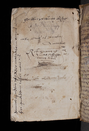Ownership inscription and various annotations, 16th century